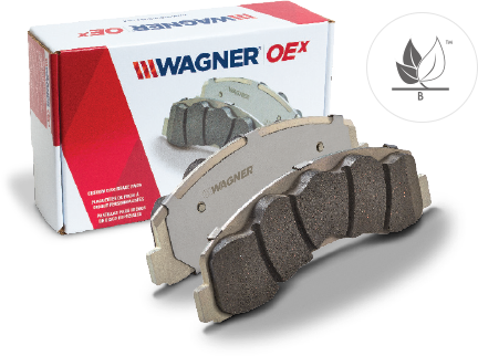 OEx brake pad product view by Wagner