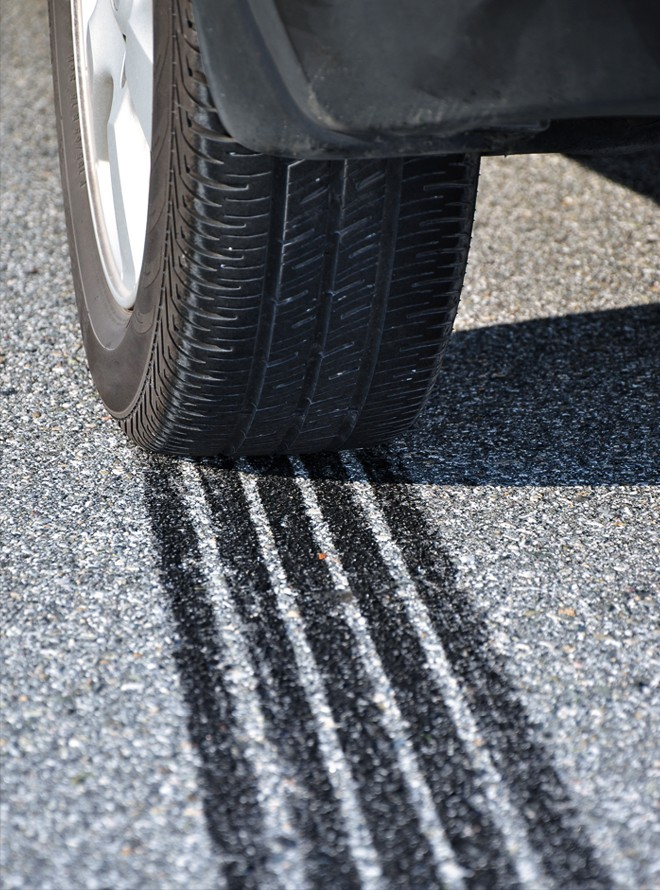 tire-marks-from-braking-fast